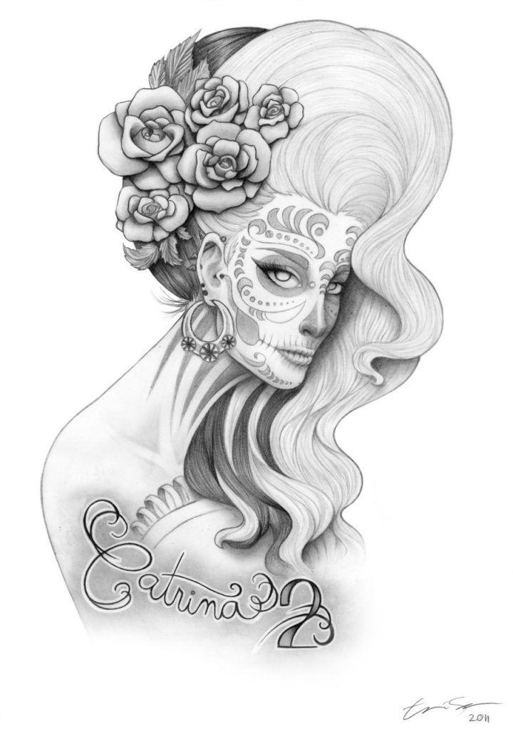 Catálogo de los mejores【50 Diseños para Tatuajes de Catrinas Mexicanas】✓Estilos ✓Imágenes ✓Videos ✓Para Hombres ✓Para Mujeres ✓Bocetos/Plantillas