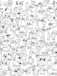 Обои-раскраски Веселые Коты 60x100 см