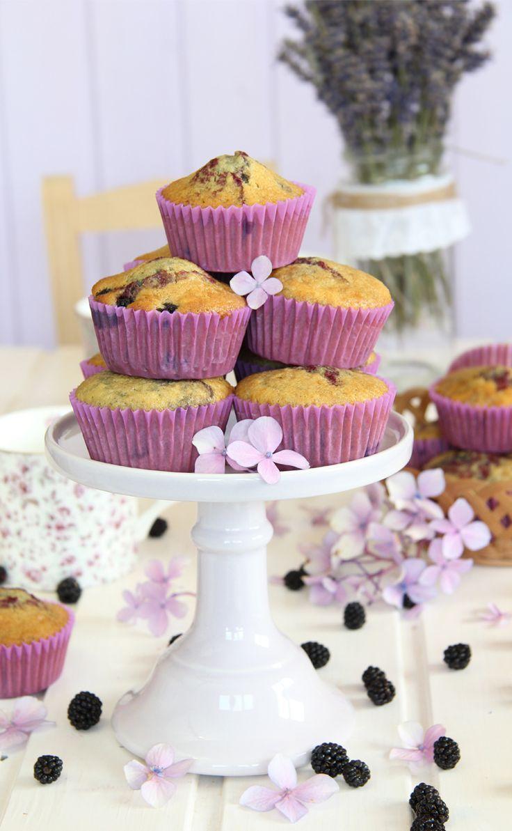 Mejor receta de muffins de moras. Paso a paso para hacer unos muffins de moras silvestres deliciosos.