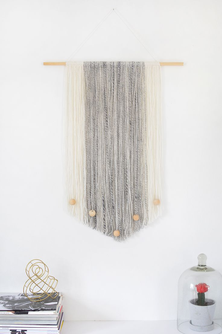 DIY yarn wall hanging 296 best Walls