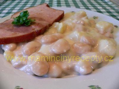 Bramborovo-fazolová omáčka