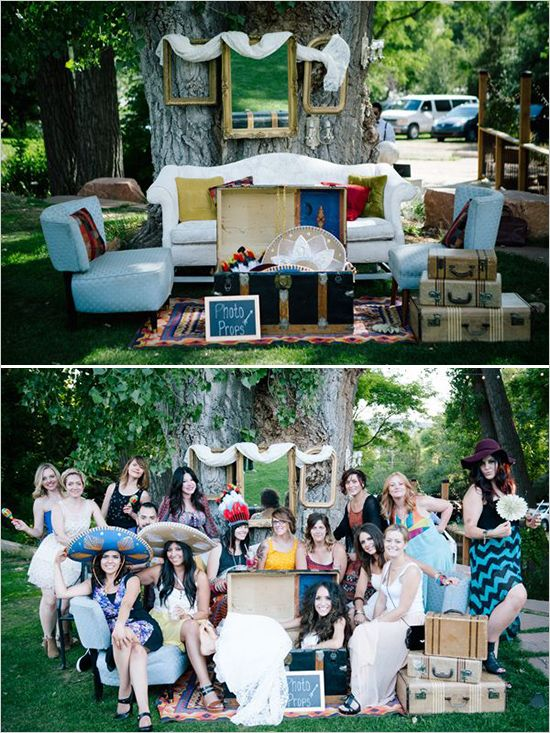 Cool wedding photo booth ideas. Captured By: Emily Elizabeth Photo ---> http://www.weddingchicks.com/2014/05/30/wild-and-free-bohemian-wedding/