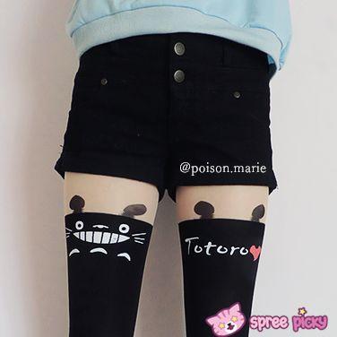 Fake Over-the-knee stockings Totoro stocking thigh socks pantyhose SP130042 - Thumbnail 1