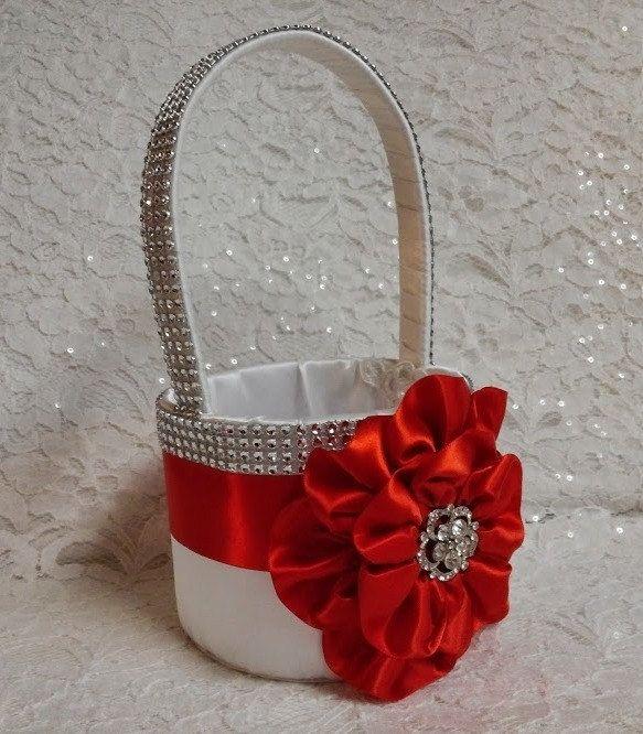 Cesta de la muchacha de flor y anillo portador por AllAHeartDesires