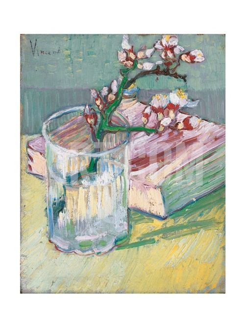 Still Life, a Flowering Almond Branch, 1888 Giclee Print by Vincent van Gogh at Art.com