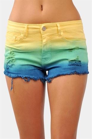 Sun Kissed Shorts - Yellow/Navy