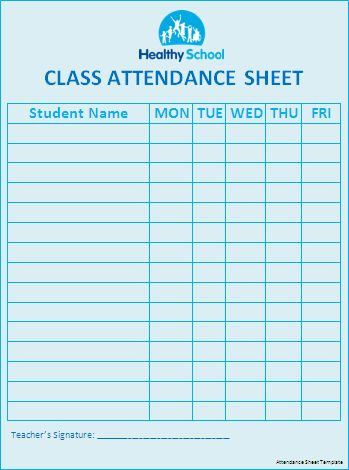 attendance sheet template donation balance templates pinterest attendance sheet template. Black Bedroom Furniture Sets. Home Design Ideas