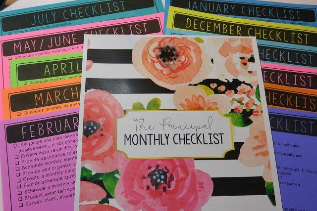 Principal's Monthly To-Do Checklists - Principal Principles