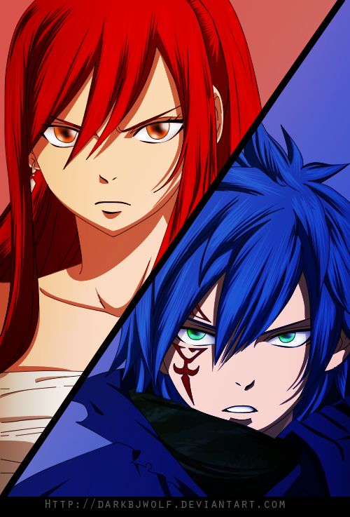 Jellal and Erza- They fight together | Jerza | Pinterest ...