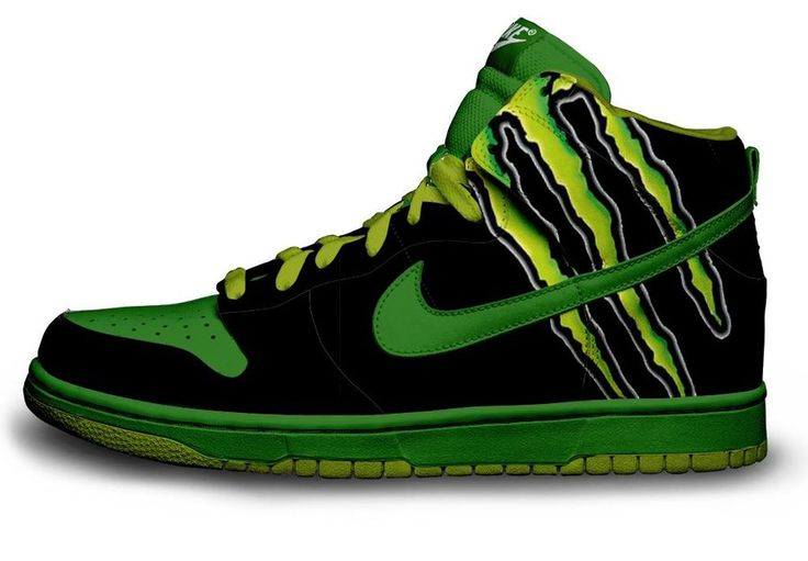 Monster Energy Shoes | Monster Energy Nike by ~Steyr13 on deviantART I want these so bad