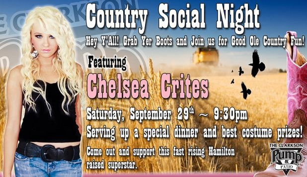 Country Social Night Sept 29 at the #Clarkson Pump & Patio #Mississauga #LiveMusic