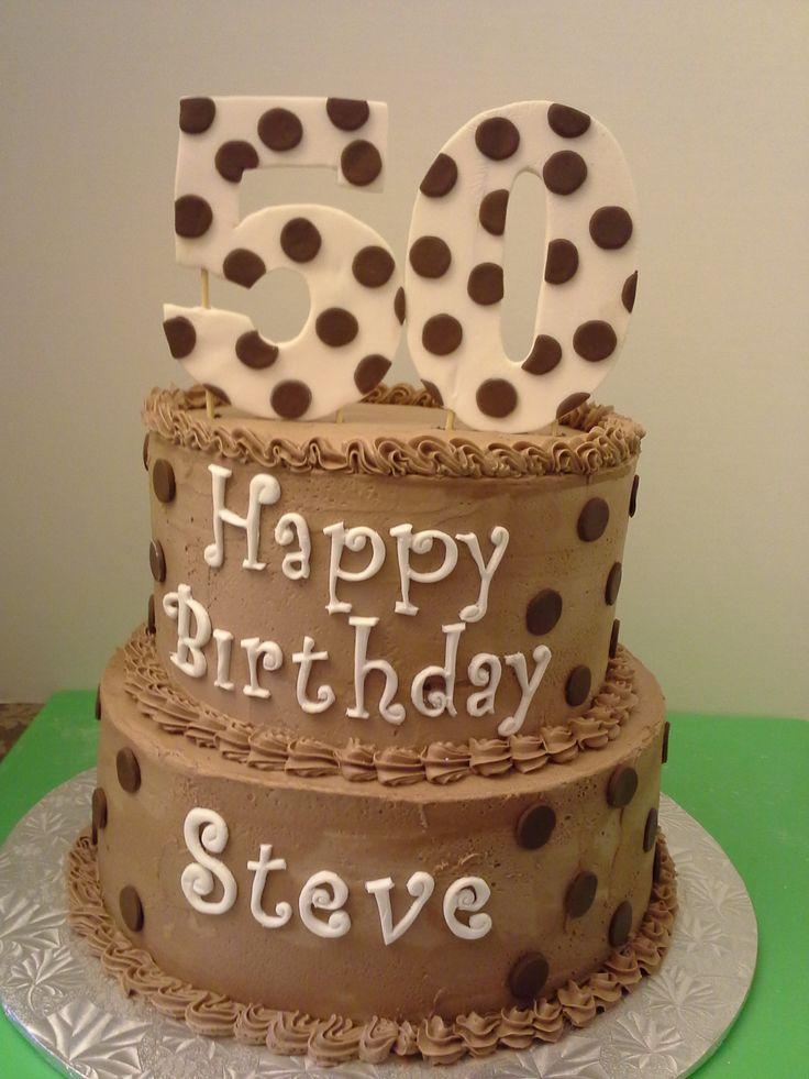 Happy 50th Steve Chocolate Spice Cake With Chocolate