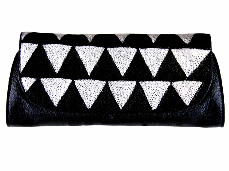 Siksak clutch. Pattern by Susanna Vento. Product by Mum's. Embroidered in the hands of South African ladies.
