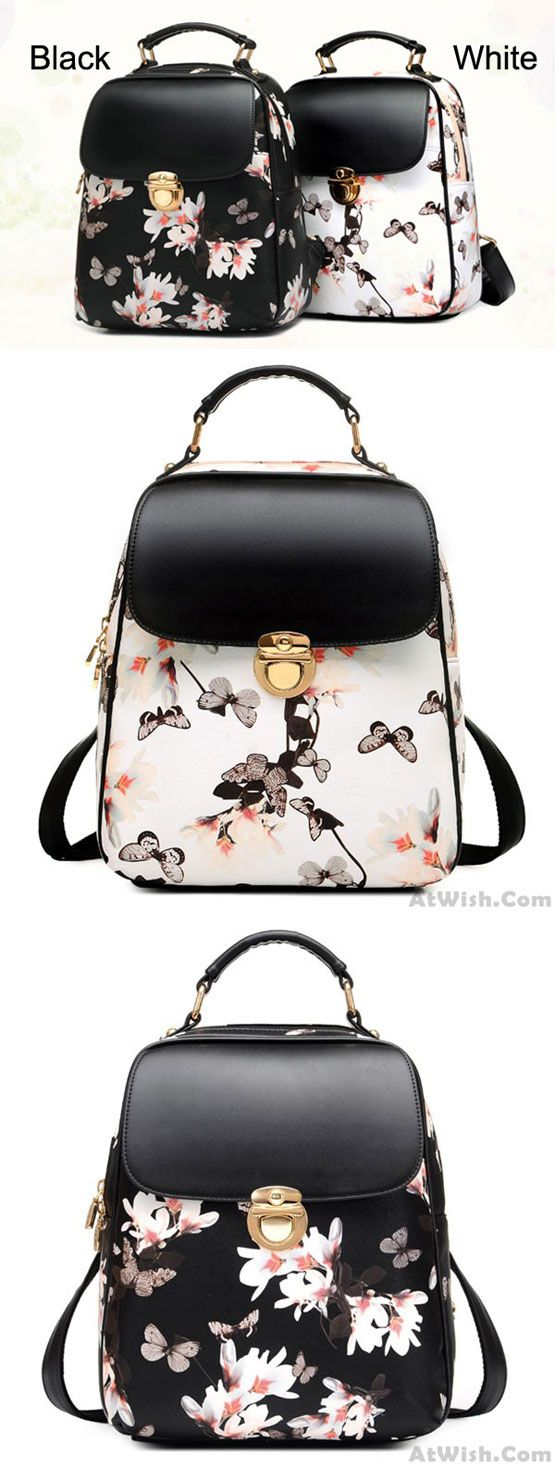 Fresh Girl Butterfly Flower School Bag Casual Backpack for big sale! #fashion #flower #butterfly #backpack #bag