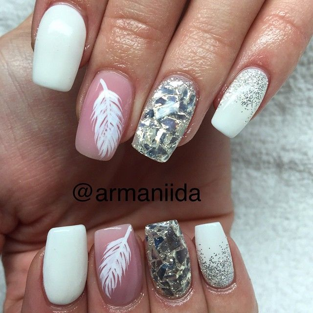 155 best Feather Nail Art images on Pinterest | Nail design, Nail ...