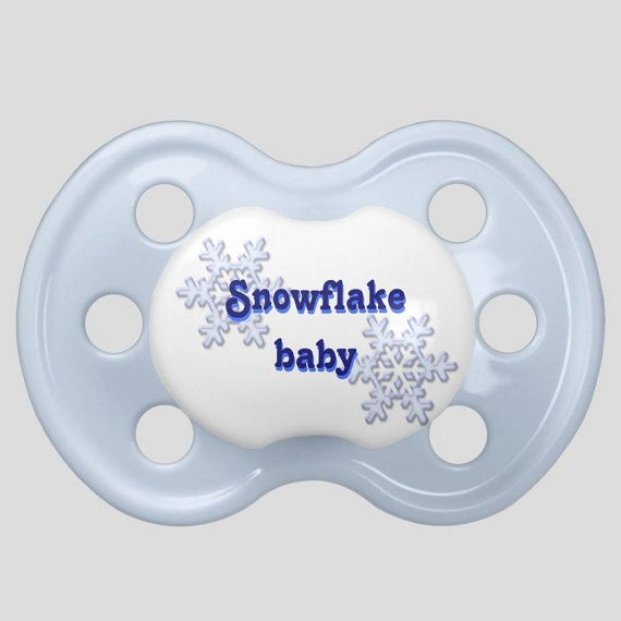 Snowflake Baby Pacifier Parenting after Frozen by BabyDustBoutique, $19.99