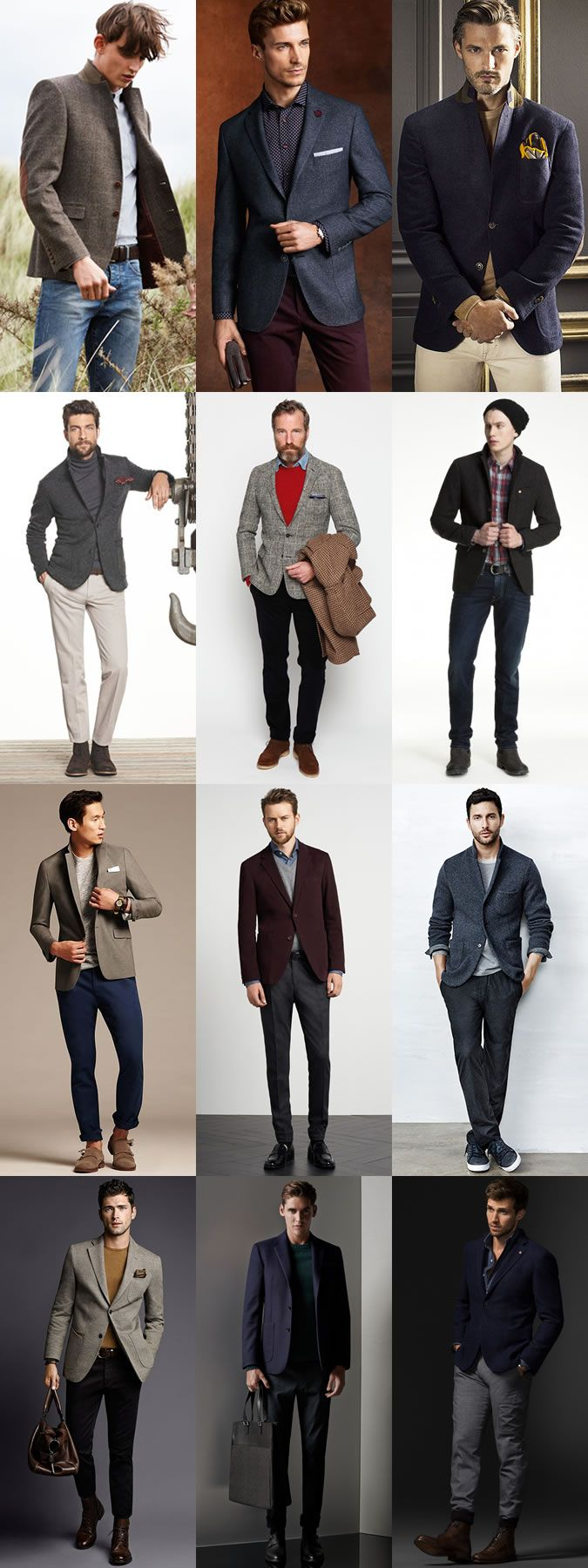 Men's Transitional Jackets For Autumn 2014: Textured Blazers For Autumn Lookbook Inspiration