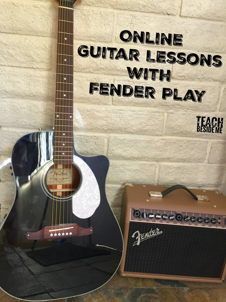 Online Guitar Lessons for Kids, Teens, & Adults with Fender Play via @karyntripp
