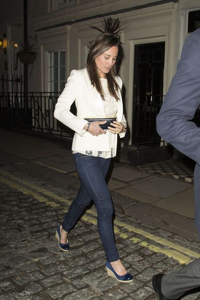 Pippa Middleton Photos Photos - Pippa Middleton and her banker boyfriend Nico Jackson head into a soiree at LouLou's Members Club in London. Pippa, who snuck out of a side door around 1:30am, has begun to write a column for Waitrose shopping magazine, following poor sales of her book 'Celebrations.' Her column in the magazine has her sharing her pearls of wisdom for things like her favorite cooking day (Friday) and the promises of the weekend. - Pippa Middleton Enjoys a Night Out in London 2