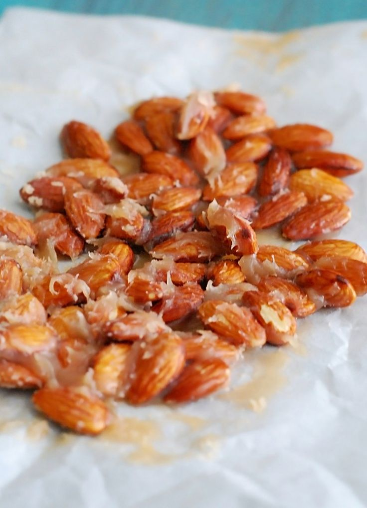 Caramel Candied Almonds - the best low-carb, sugar free snack, ever.