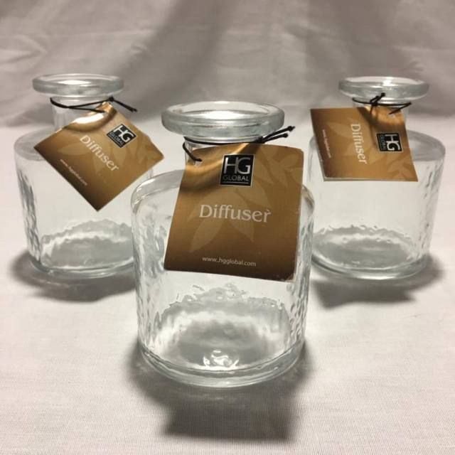 Hosley Glass Diffuser Bottles, Set of 3 Glass 100ml Essential Oil Diffusers | eBay