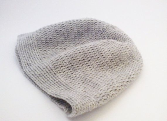 Mens hat Wooly hats Grey winter beanie hat High by HappyWoollies