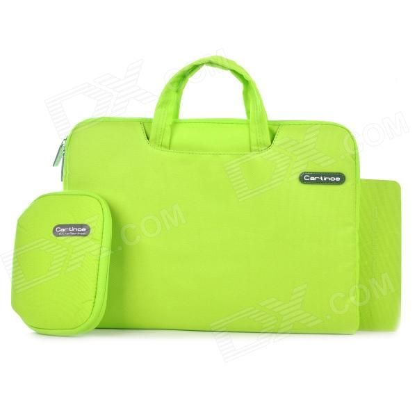 "Cartinoe Laptop Inner Bag   Coin Purse   Mousepad for Apple MacBook Air / Pro 13.3"" Tote Bag - Green Price: $23.47"