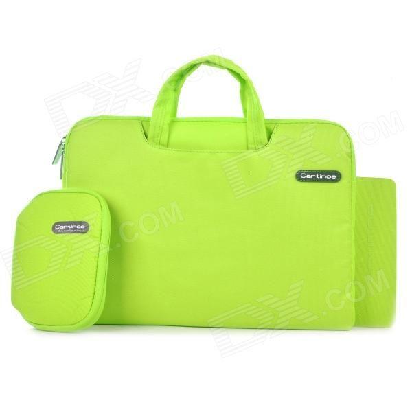 "Cartinoe Laptop Inner Bag   Coin Purse   Mousepad for Apple MacBook Air / Pro 13.3"" Tote Bag - Green Price: $23.47"