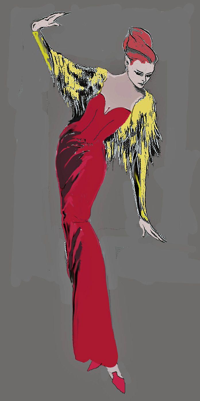 Fashion Drawing for Pat McDonagh.                BY frederick watson.