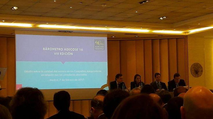 Hoy estamos en Madrid en la presentación del Barómetro Adecose @AAdecose. En la imagen, la directora de la DGS en el momento de la presentación. #Albroksa #CorreduriaSeguros #FranquiciaSeguros
