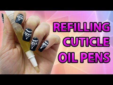 How to Refill a Cuticle Oil Pen - YouTube