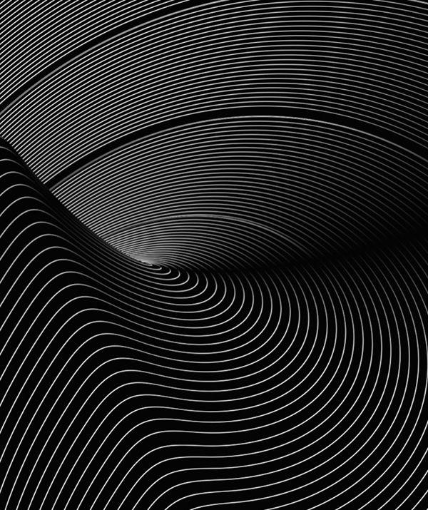 Curves, plastic, black