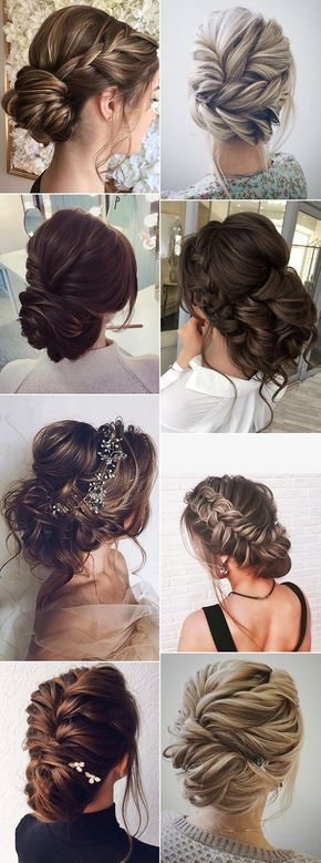 Bride Updo Wedding Hairstyle Ideas for 2017 Trends #Wedding Hairstyles
