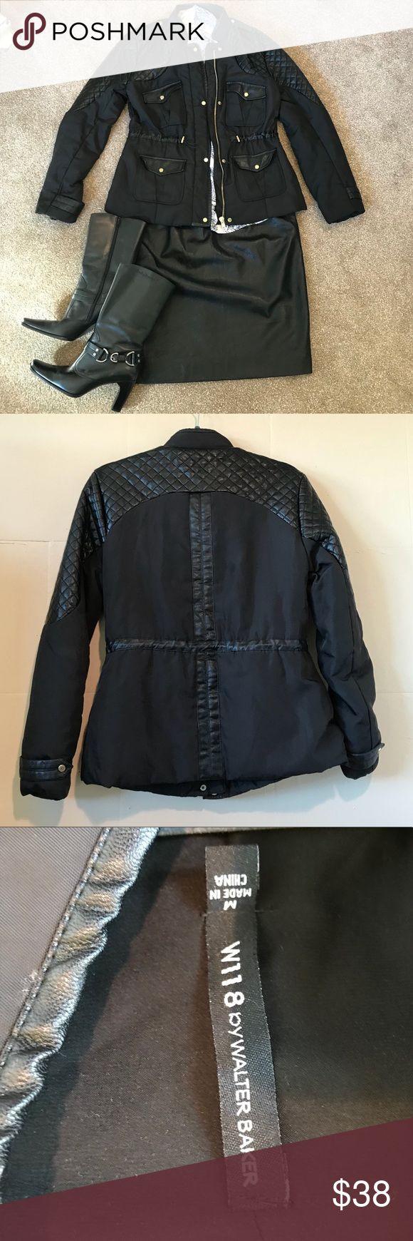 Walter Baker coat Beautifully detailed black coat. W118 by Walter Baker Jackets & Coats