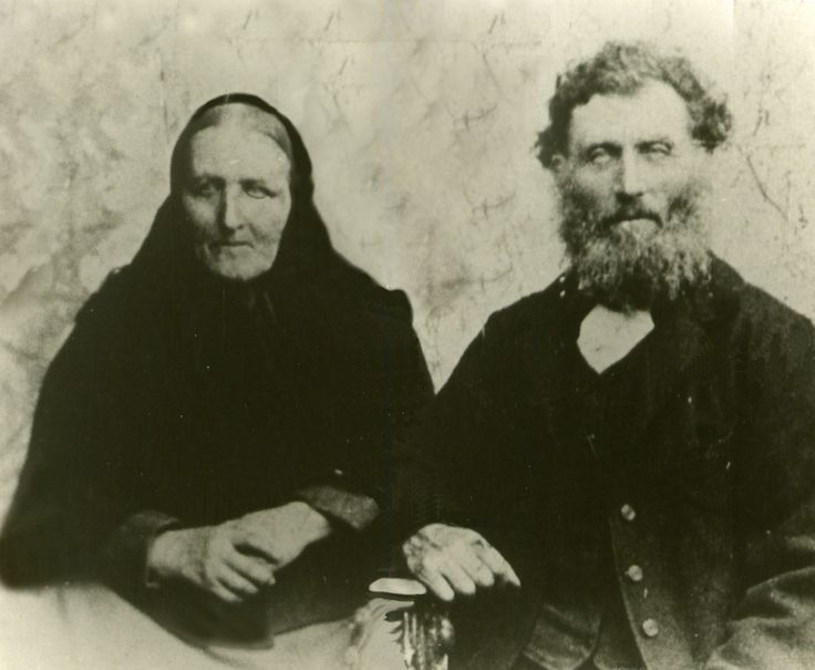My great great great grandparents Aslak Aslakson and Gurina Håvardsdotter. This picture is also a little photoshoppet because I got it as separate pictures.