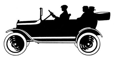 Vintage Clip Art - Transportation Silhouettes - Father's Day - The Graphics Fairy