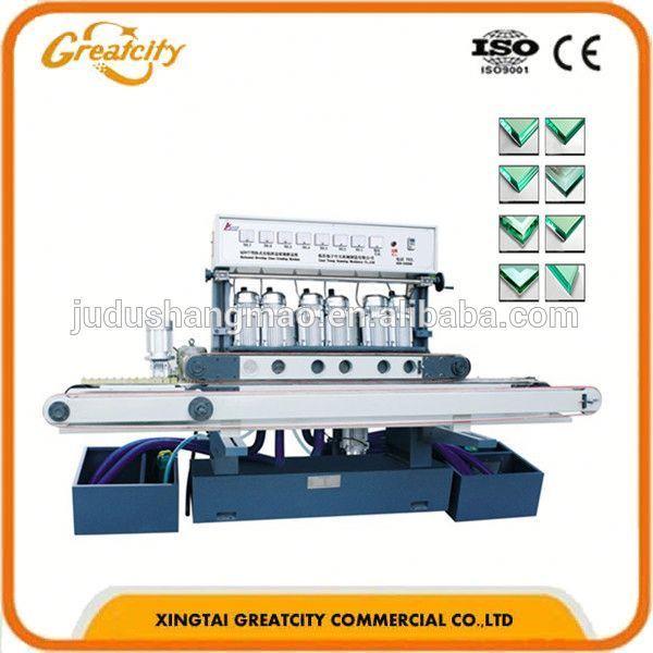 De cristal del ribete máquina/extractor máquina de biselado de vidrio/vidrio pulido de la máquina