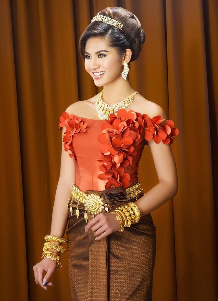 318 best khmer thai traditional clothing images on for Khmer dress for wedding party