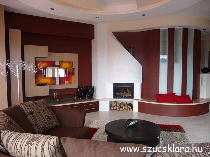 Luxus lakás vörösre hangoltan