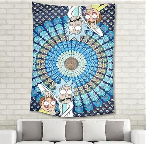 #RickandMorty tapestry!!! Check out my etsy store for more Rick and Morty merch. https://www.etsy.com/shop/stellarsuits  <3 <3 <3