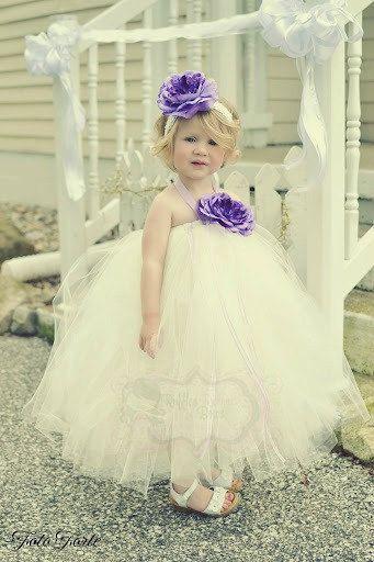 Wedding Belle Flowergirl Tutu Dress   by RufflesRibbonsNBows, $69.95
