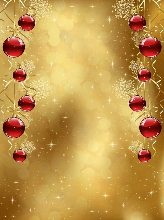 Red Ornaments Gold Christmas Backdrop 3129 Christmas Backdrops Gold Christmas Christmas Phone Backgrounds
