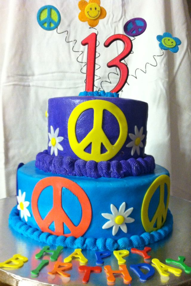 Cake Decorating Ideas Peace Sign : 120 best images about Mod, 60 s & 70 s, Hippie Cookies ...