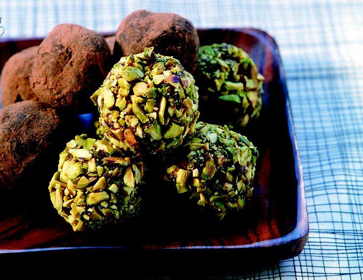 Chocolate Truffles - HomeChoice Cookbook Volume I. Find the recipe here: http://hometalk.homechoice.co.za/content/chocolate-truffles