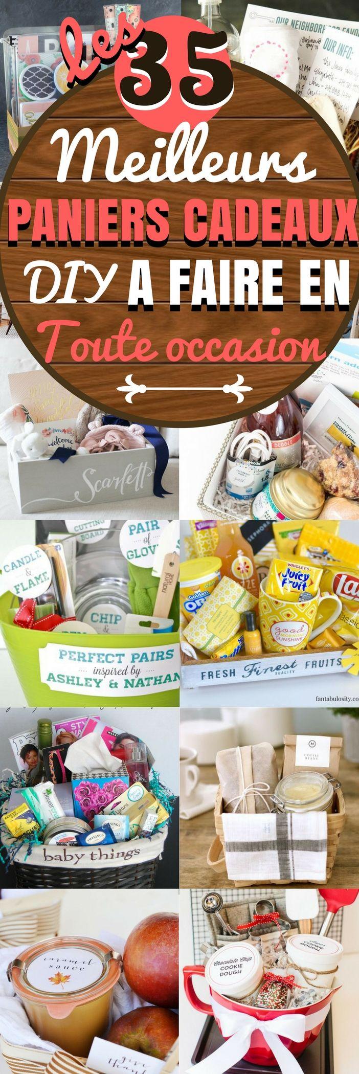 Nous aimons tous les petites choses coquettes qui pimentent un peu la déco de notre intérieur ou nos réceptions. Afin de vous donner envie de libérer votre créativité, nous vous proposons ici 35 idées de paniers cadeaux faits maison (DIY) à porter de toutes les bourses. Vous trouverez des paniers-cadeaux-de-bricolage, des paniers-cadeaux-pour-bébé, des paniers-cadeaux de vacances...#diy #idées #cadeaux #ideedeco #conseils