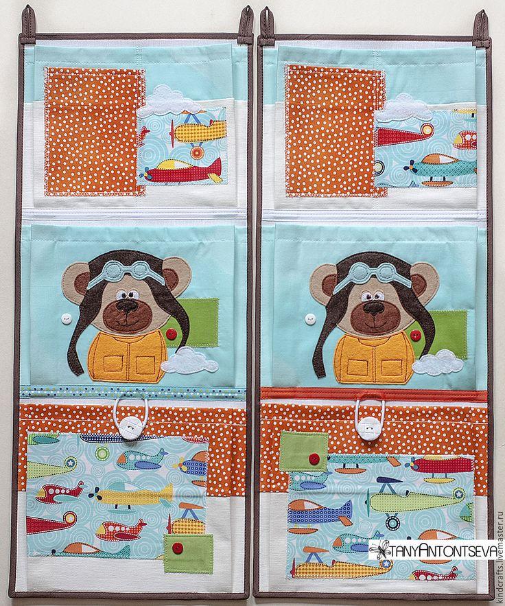 Купить Кармашки для детского сада Пилот - кармашки в детскую, кармашки для мелочей, кармашки, кармашки в садик