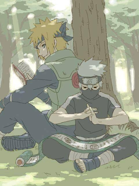 <3 Kakashi & Minato (Team Minato)