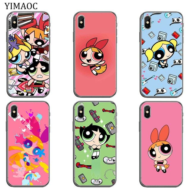 Powerpuff Girls Bubbles Pattern iphone case