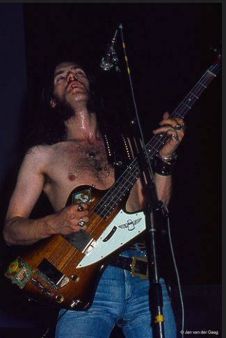 Lemmy with Hawkwind in 1974