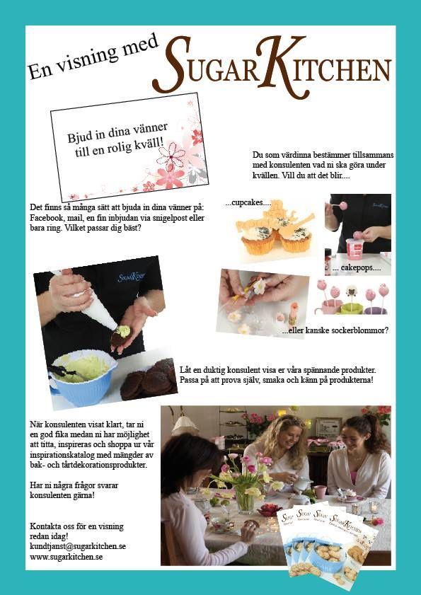 Bjud in dina vänner och bakningen till ditt kök. Boka en visning med en av våra duktiga konsulenter!  kundtjanst@sugarkitchen.se